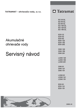 Servisný návod 2008_10 pre EO GL, EOV x2, OVK, LOVK, EOV