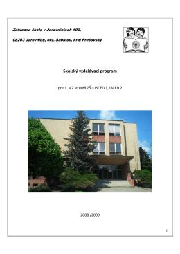 1. a 5. ročník /šk. rok 2008 - 2009