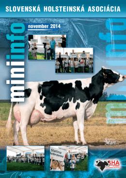 MiniInfo 11/2014  - Slovenská holsteinská asociácia