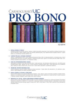PRO BONO ULC 12 2014