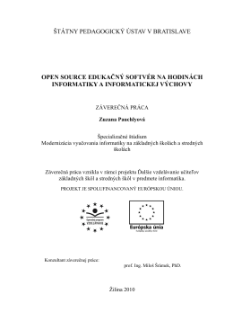 štátny pedagogický ústav v bratislave open source
