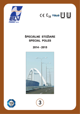 špeciálne stožiare special poles 2014 - 2015