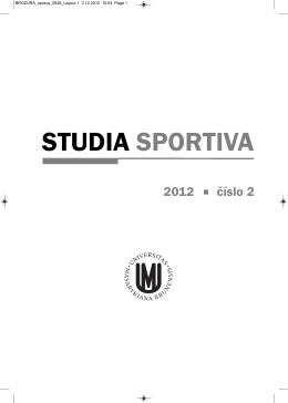 studia sportiva 2012/6 #2 - Fakulta sportovních studií