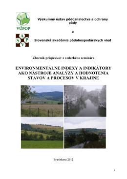 stiahnuť zborník - Výskumný ústav pôdoznalectva a ochrany pôdy