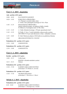 Program konference - Faculty of Medicine