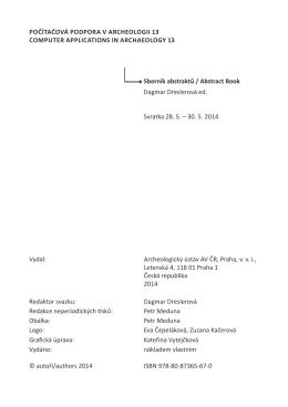 PDF - Archeologický ústav AV ČR
