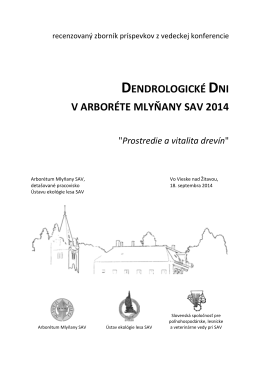 DD2014_1.pdf - Arborétum Mlyňany SAV