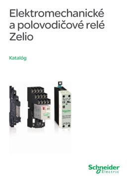 Elektromechanické a polovodičové relé Zelio