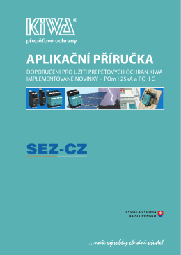 přepěťové ochrany APLIKAČNÍ PŘÍRUČKA - SEZ