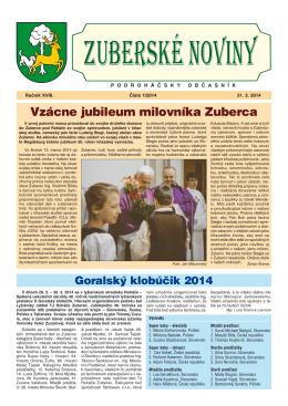Zuberské noviny 1/2014 Formát PDF