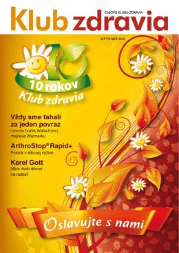 Jeseň 2010 PDF  - Klub zdravia Walmark