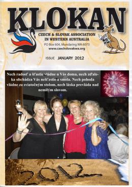 ISSUE JANUARY 2012 Nech radosť a šťastie vládne u Vás doma