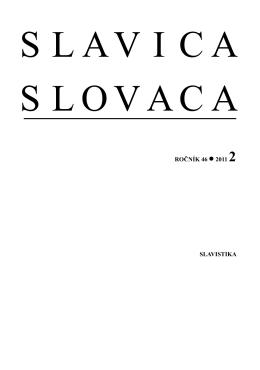 No. 2 - Slavistický ústav Jána Stanislava SAV