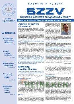 číslo 3 a 4 - Slovenské združenie pre značkové výrobky