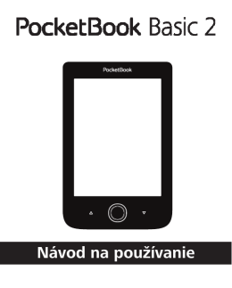 User Manual PocketBook Basic 2