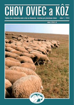 Číslo 01/2013 - Zväz chovateľov oviec a kôz na Slovensku