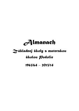 Almanach - Základná škola s materskou školou Podolie