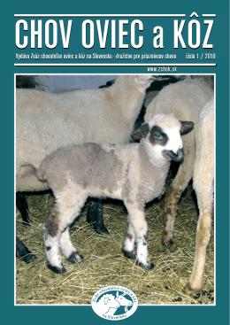Číslo 01/2010 - Zväz chovateľov oviec a kôz na Slovensku