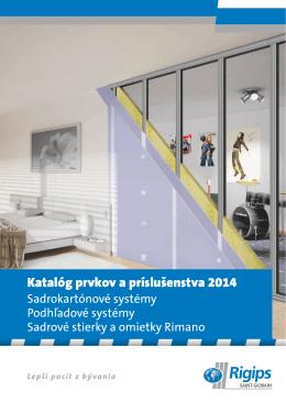 Katalóg prvkov a príslušenstva 2014