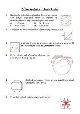 Dĺžka kružnice, obsah kruhu