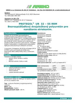 Technický list materiálu Protegol 32-55 RRM