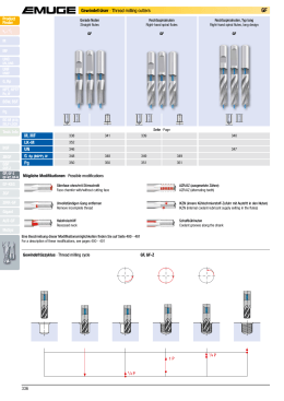 336 Gewindefräser · Thread milling cutters M, MF LK