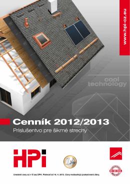 Cenník 2012/2013