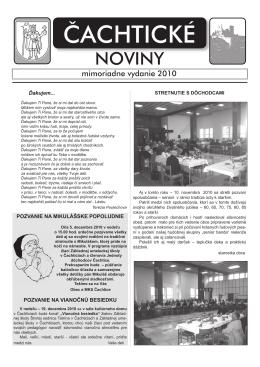 cACHTICE noviny- november 2010.indd