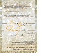 4.-6. december 2014, Hotel Holiday Inn Žilina Športová 2, 010 01