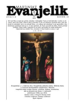 Martinský evanjelik č. 1 - 2 / 2012