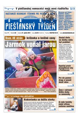 Jarmok voňal jarou - Piešťanský denník
