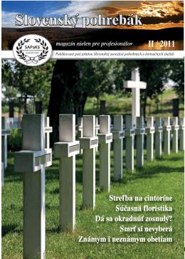 II / 2011 - Slovenské pohrebníctvo