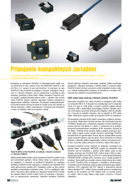 Pripojenie kompaktných zariadení