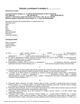 Dohoda o pristúpení k záväzku