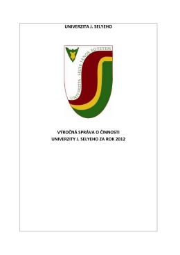 Výročná správa UJS za rok 2012