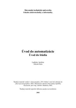Úvod do automatizácie