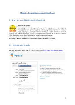 certifikát Overené zákazníkmi