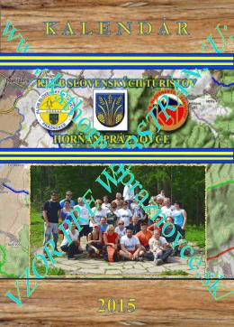 Nástenný kalendár KST Horňan na rok 2015