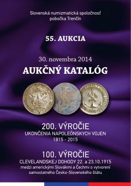 55. aukcia SNS pri SAV, pobočka Trenčín 30. 11. 2014 v pdf