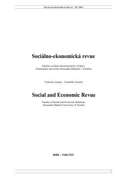 číslo / volume 3 - Fakulta sociálno
