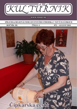kultúrnik - júl a august 2010.pdf - Regionálne osvetové stredisko