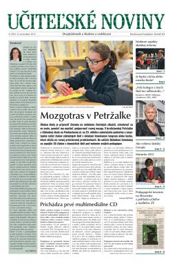 Mozgotras v Petržalke - Domov - Štátny inštitút odborného vzdelávania