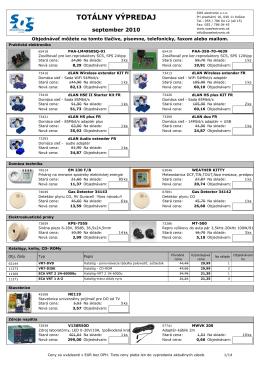 totálny výpredaj - SOS electronic s.r.o