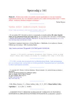 Spravodaj c 161 - szcpv