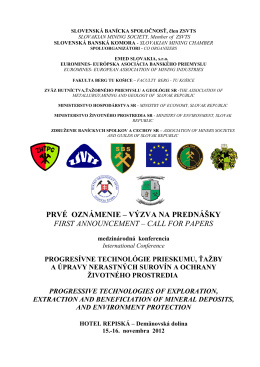 slovenská banícka spoločnosť-slovakian mining society