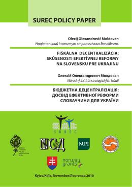surec policy paper - Slovenská spoločnosť pre zahraničnú politiku