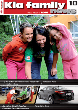 Kia family - Kia Motors Slovakia, sro