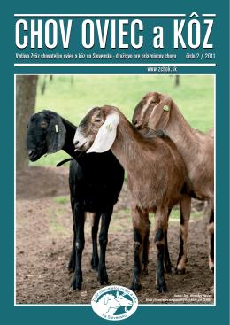 Číslo 02/2011 - Zväz chovateľov oviec a kôz na Slovensku