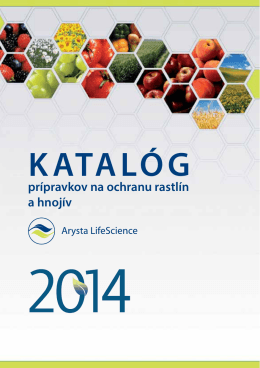 KATALÓG - Arysta LifeScience Slovakia s.r.o.