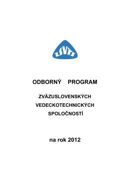 ODBORNÝ PROGRAM na rok 2012